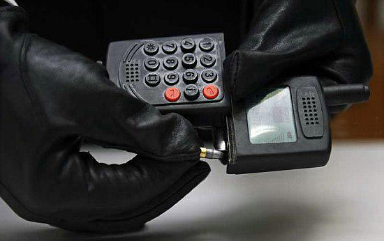 Пистолет в мобильном телефоне