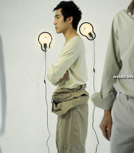 Светильники-стикеры (концепт)