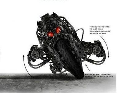 Мотоцикл-терминатор предстал крупным планом