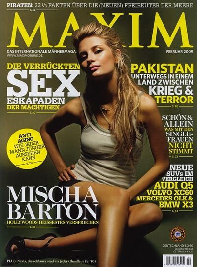 Миша Бартон (Mischa Barton) в журнале Maxim (Февраль 2009).