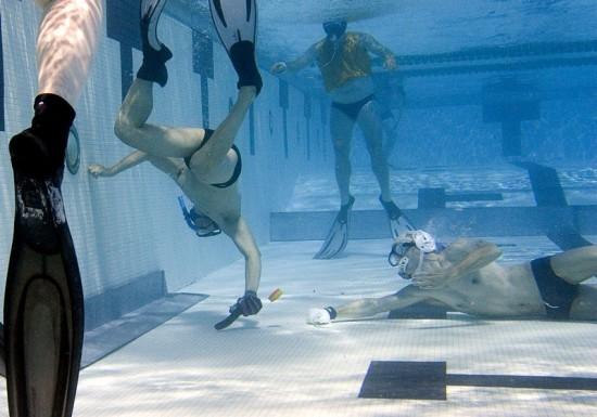 Подводный хоккей набирает популярность