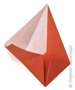 3D оригами: подснежники в вазочке
