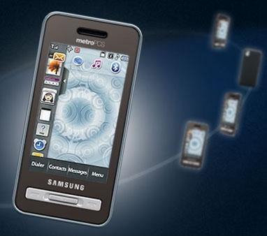 Samsung Finesse с виртуальной клавиатурой QWERTY