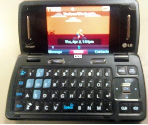 Первые фотографии двухэкранного телефона LG enV 3