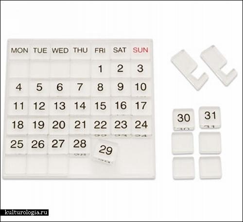 День за днем уходит время. Необычные дизайнерские календари