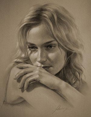 Рисованные звезды, красивые портреты красивых людей