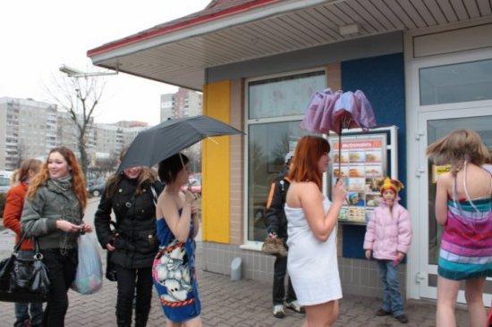 """Наш фарш-моб """"Под зонтом"""" 29 марта 2009 года! Это было незабываемо..."""