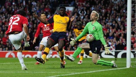 Полуфинал Лиги Чемпионов. Manchester United 1:0 Arsenal