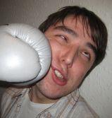 После драки: синий нос