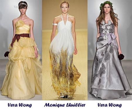 Модные  свадебные платья 2009 года