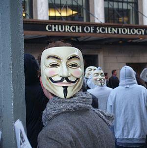 Анонимусы против церкви саентологии