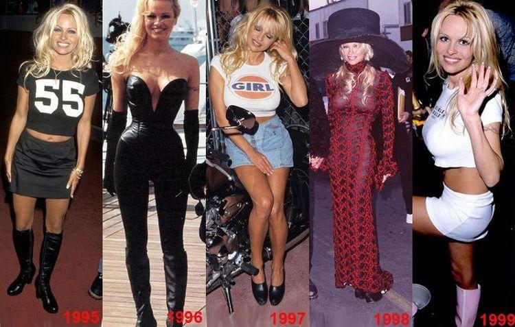 Эволюция Памелы за 20 лет