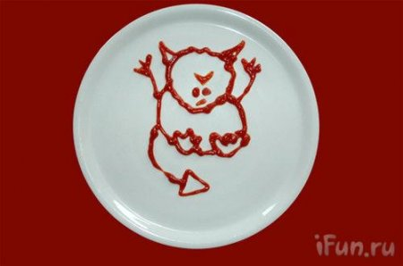 Рисунки кетчупом