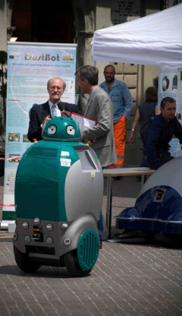 Dustbot: обаятельный робот-мусорщик из Италии
