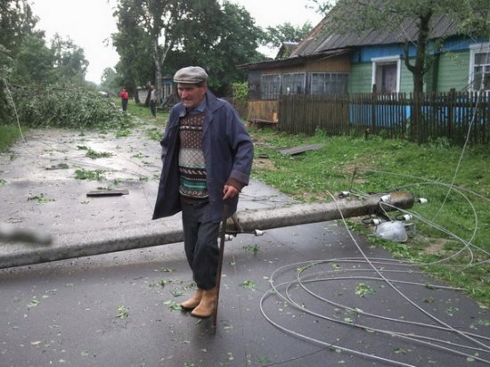 Последствия непогоды, прошедшей по Беларуси