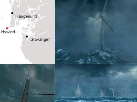Построена первая в мире плавающая ветроэлектростанция