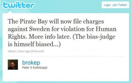The Pirate Bay подают в суд на Швецию
