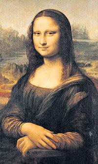 Мона Лиза обнажила грудь