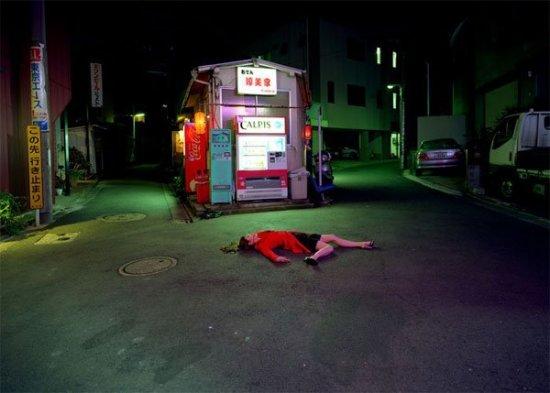 Работы Изима Каору-пейзаж с трупом