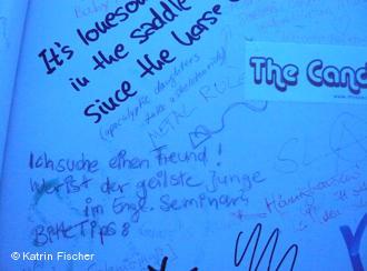 Что пишут боннские студентки на стенах туалетов?