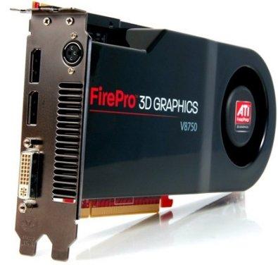 ATI FirePro V8750 - самый быстрый профессиональный ускоритель AMD