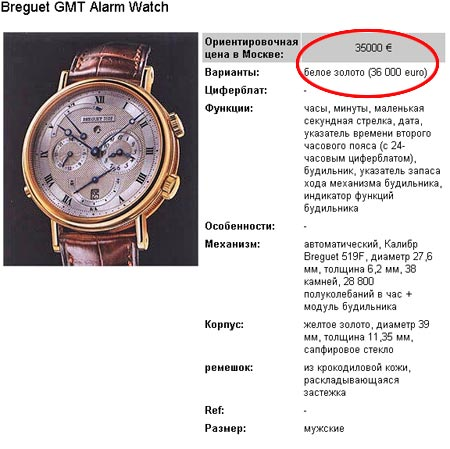 Митрополит Кирилл носит часы стоимостью около 30 тысяч евро