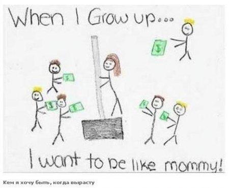 """Рисунок девочки на тему """"Кем я хочу быть, когда вырасту"""""""