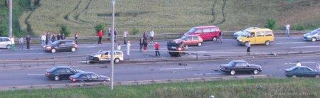 Авария на МКАД вчера