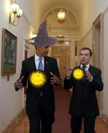 Фотожаба на Медведева и Обаму