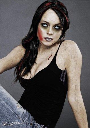Знаменитости в образе вампиров