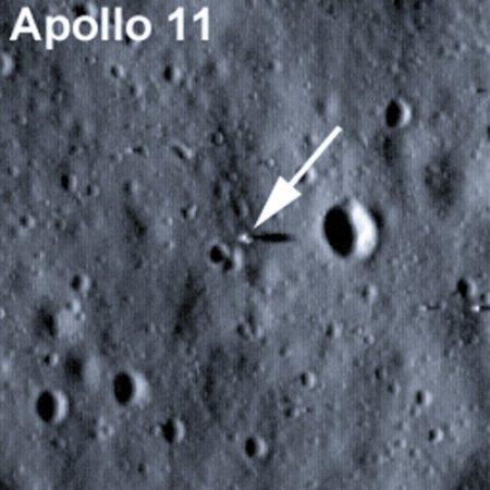 Первая фотография участков высадки Аполлона