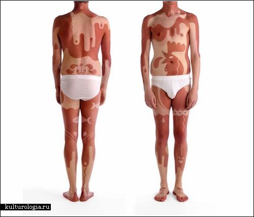 Татуировки, нанесенные загаром