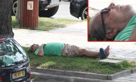 Николсон спит на улице