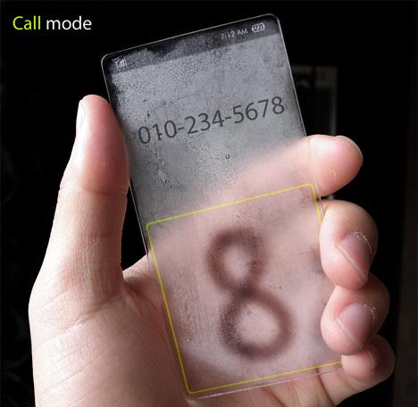 Прозрачный концепт Windows Phone с имитацией погодных условий