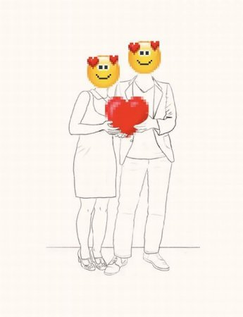Love with emoticons by Tal Drori