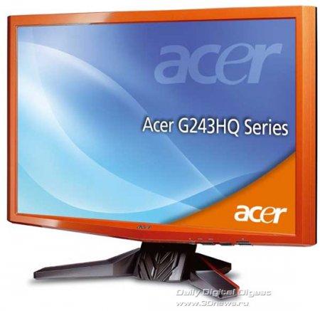 Acer G243HQ – высококонтрастный Full HD-монитор для игр