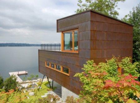 Современные дома. Дом у озера