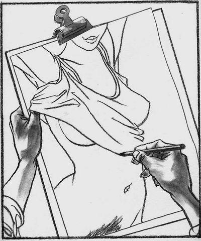 Необычные эротические рисунки - Escher Style (6 фото)