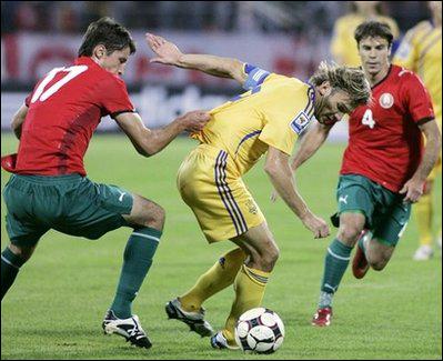 Футбольные сборные Беларуси и Украины сыграли вничью 0:0
