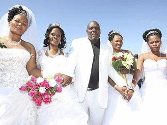 Житель ЮАР женился на четырёх женщинах одновременно
