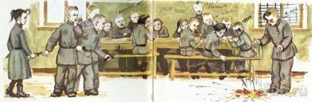 Школьники рисуют