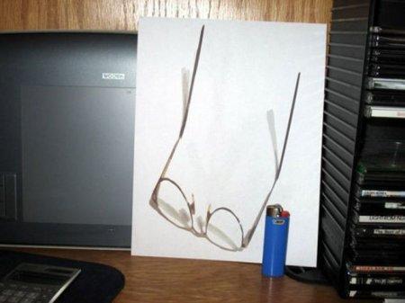3D иллюзии на бумаге