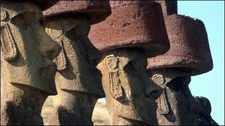 Раскрыта загадка «красных цилиндров» истуканов Пасхи