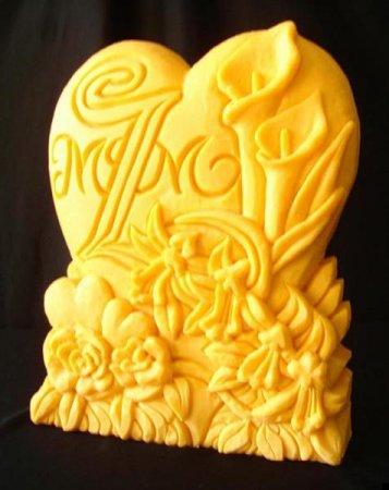 Скульптуры из сыра