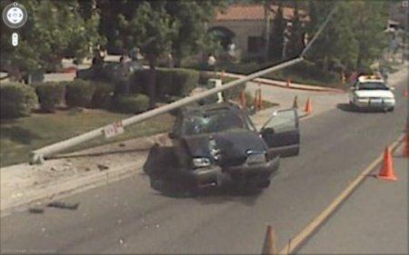 Аварии на картах Google Streetview