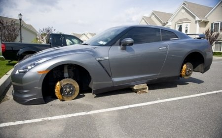 Nissan GT-R разули