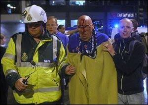 Зачинщики беспорядков во время финала Кубка УЕФА 2008 года предстали перед судом Манчестера