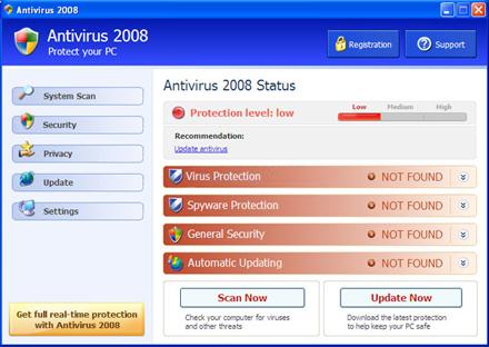 Фальшивыми антивирусами заражены десятки миллионов компьютеров