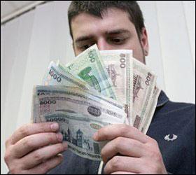 Зарплата белорусов падает