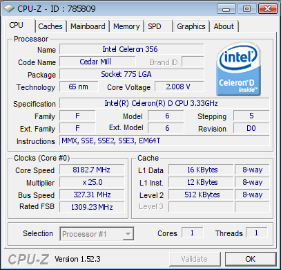 Установлен мировой рекорд по разгону CPU - 8182,7 МГц!